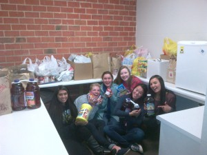 Paradise-interact canned food donation