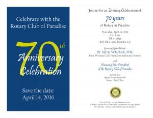 Rotary Anniversary Party