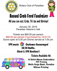 Rotary Crab Feed 2016 outlets
